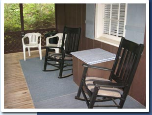 Blue Shutter Cottage screened porch photo
